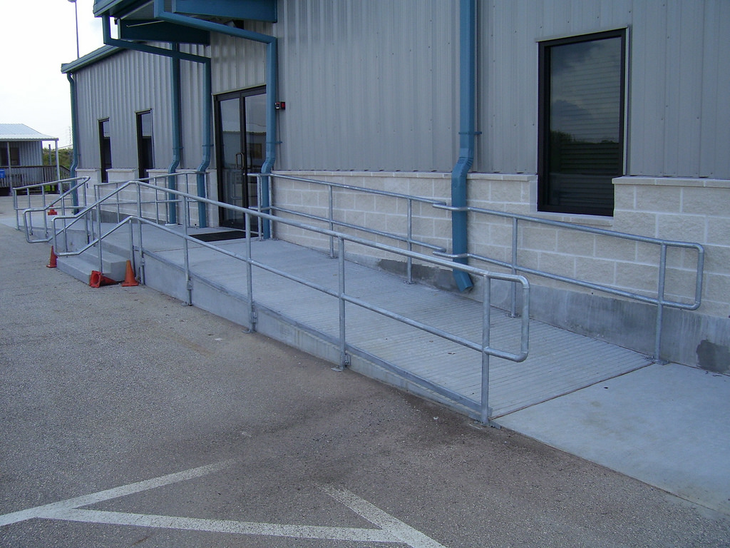 Commercial Slab with stairs and walkway
