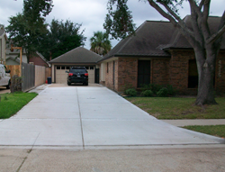Newly Replaced Driveway