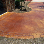 Customed Stained Patio