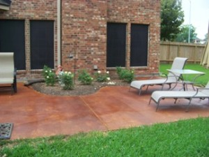 Custom Stained Concrete Patio